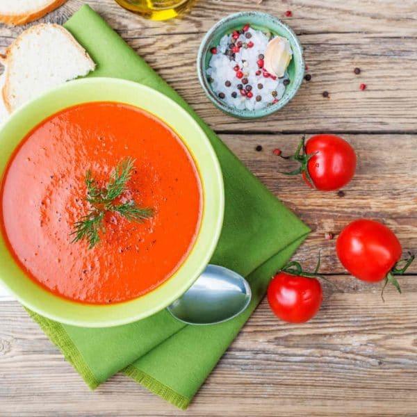 وصفة حساء البندورة