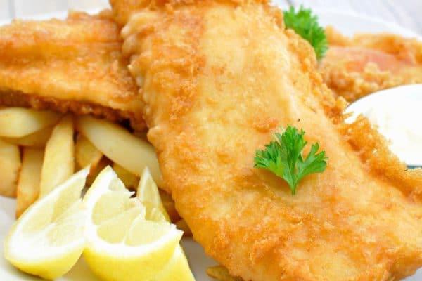 وصفة السمك مع البطاطا المقلية