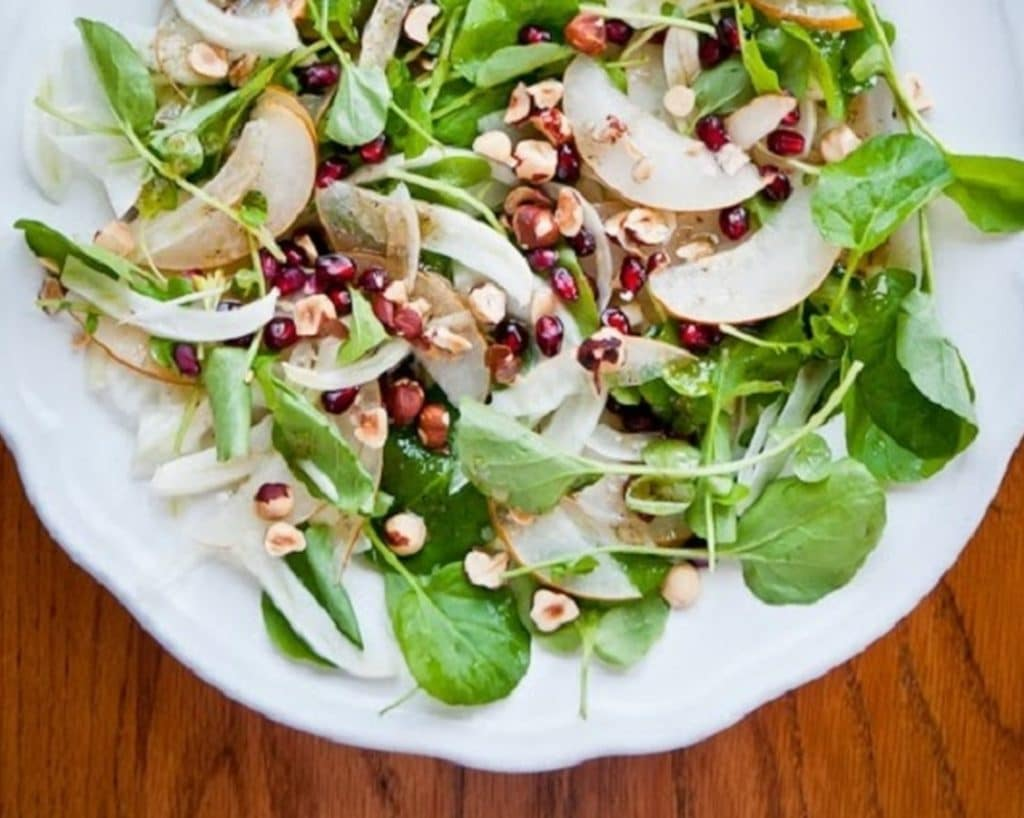 Rocket Salad With Apples And Pine Nuts Recipe Prospan Arabia