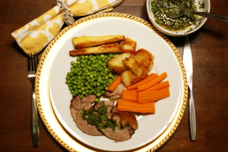 Leg of Lamb with Mint Recipe