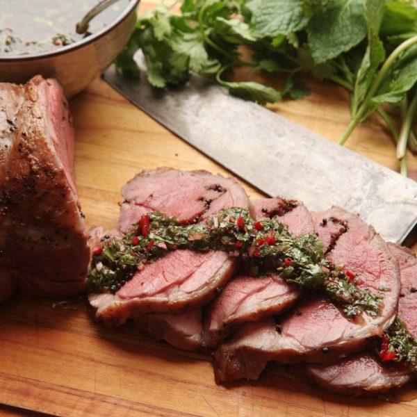 Leg of Lamb with Mint Recipe
